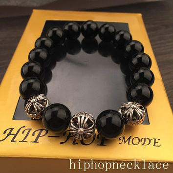 Awesome Great Deal Hot Sale Gift Stylish Shiny New Arrival Cross Rack Hip-hop Couple Accessory Bracelet [6544255427]