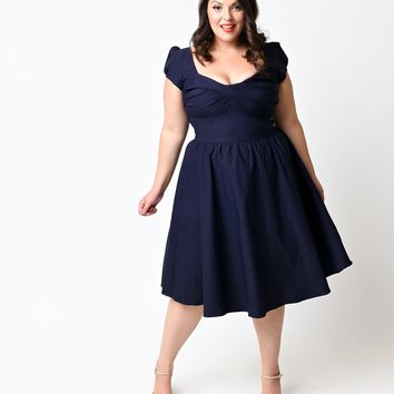 Stop Staring! Exclusive Plus Size Navy Billion Dollar Baby Dress