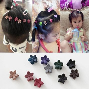 2017 New Small Flower Baby Kids Hair Clips Hair Claws Lovely For Child Cute Hair Accessories Fashion For Student Free Shipping
