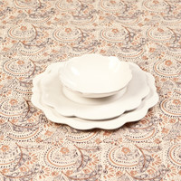 White Scalloped Dinnerware