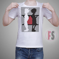 Hunter X Hunter Gon Freecs and Killua Zoldyck Vector Character AllukaArtTees Unisex Adult Tees