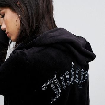 Juicy Couture Gothic Logo Zip Thru Hoodie at asos.com
