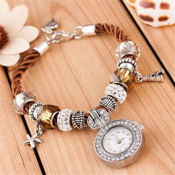 Beach Holiday Diamond Bracelet Watch for Women Best Christmas Gift Watch-461