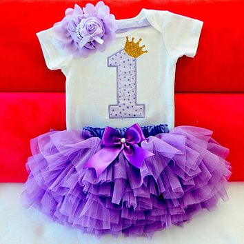 Baby Girl Clothes 1st Birthday Cake Smash Outfits Infant Clothing Sets Romper+Tutu Skirt+Flower Cap Newborn Baby Suits