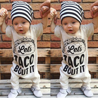 Summer Toddler Kids Baby Boy Girl Infant Short Sleeve Romper Jumpsuit Cotton Clothes