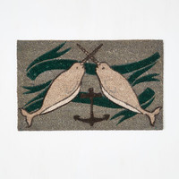Nautical Give It Your Narwhal Doormat by ModCloth