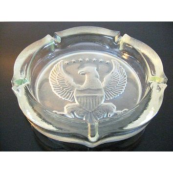 American Eagle Glass Ashtray Seven Star Designed For Tiara