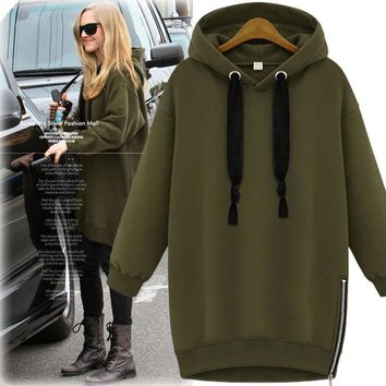 2016 autumn and winter new women's loose long-sleeved large yards [44575031321]