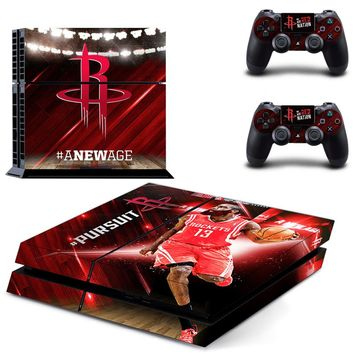 Houston Rockets: James Harden Skin Sticker Decal for Sony PlayStation 4 Console and Controllers
