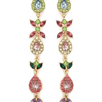 Faux Jewel Drop Earrings