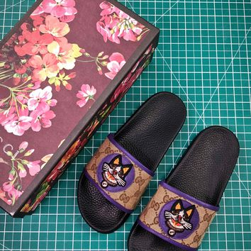 Gucci Leather Slide With Bow Fashion Style 3 - Best Online Sale
