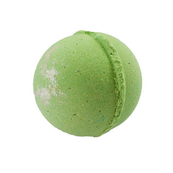 Coconut Lime Bath Bomb, Green Bath Bomb with Silver Shimmer and Dead Sea Salt, Jumbo Bath Bomb, Cruelty Free, Vegan Bath Bomb