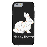 Happy Easter Lovely White Bunny Tough iPhone 6 Case