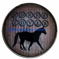 Horse Lover Snap  20mm