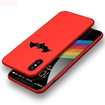 Fashion Batman PC Hard Phone Case For iPhone 8 / 8 Plus Coque High Quality Protection Back Cover For iPhone X Case Fundas New