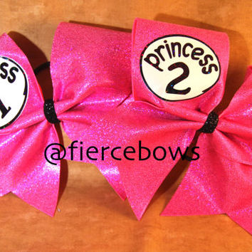 Princess 1 and Princess 2 Cheer Bows