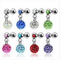 New Charming Dangle Crystal Navel Belly Ring Bling Barbell Button Ring Piercing Body Jewelry = 4804931332