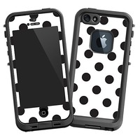 Black Polka Dot on White Skin  for the iPhone 5 Lifeproof Case by skinzy.com