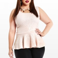 Plus Size Pretty In Paisley Peplum Top | Fashion To Figure