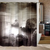 Sea Surface Shower Curtains (Size: 180cm by 180cm, Color: Multicolor)