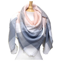 """Always My Style"" Cozy Pastel Tone Plaid Blanket Scarf"