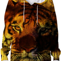 Tiger and Sunset Hoodie created by ErikaKaisersot | Print All Over Me