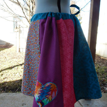 Hippie Patchwork Skirt, Grateful Dead skirt, Festival skirt, hippie clothes, short skirt, mini skirt, Festival skirt, Boho Chic,