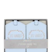 Paperchase Leather Luggage Tag Set