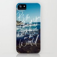 Be the Change iPhone Case by Leah Flores Designs | Society6