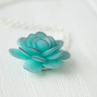 Blue Purple Succulent Planter Necklace Pendant mini succulent plants arrangement Succulent Jewelry mother's day mom gifts