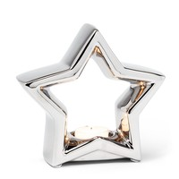 Star Shape Silver Tealight Holder