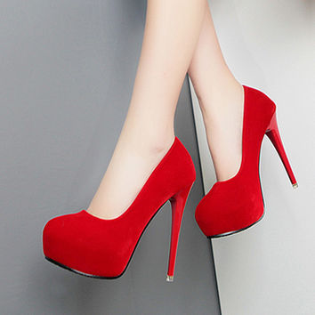 Classic Close Toe Pump Stiletto Heels