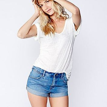 Free People Womens Browder Cuffed Cut Off - Scott