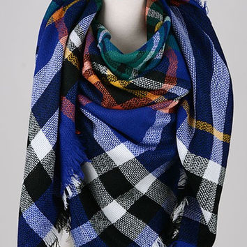 Blanket Scarf - Royal Blue