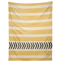 Allyson Johnson Yellow Stripes And Arrows Tapestry