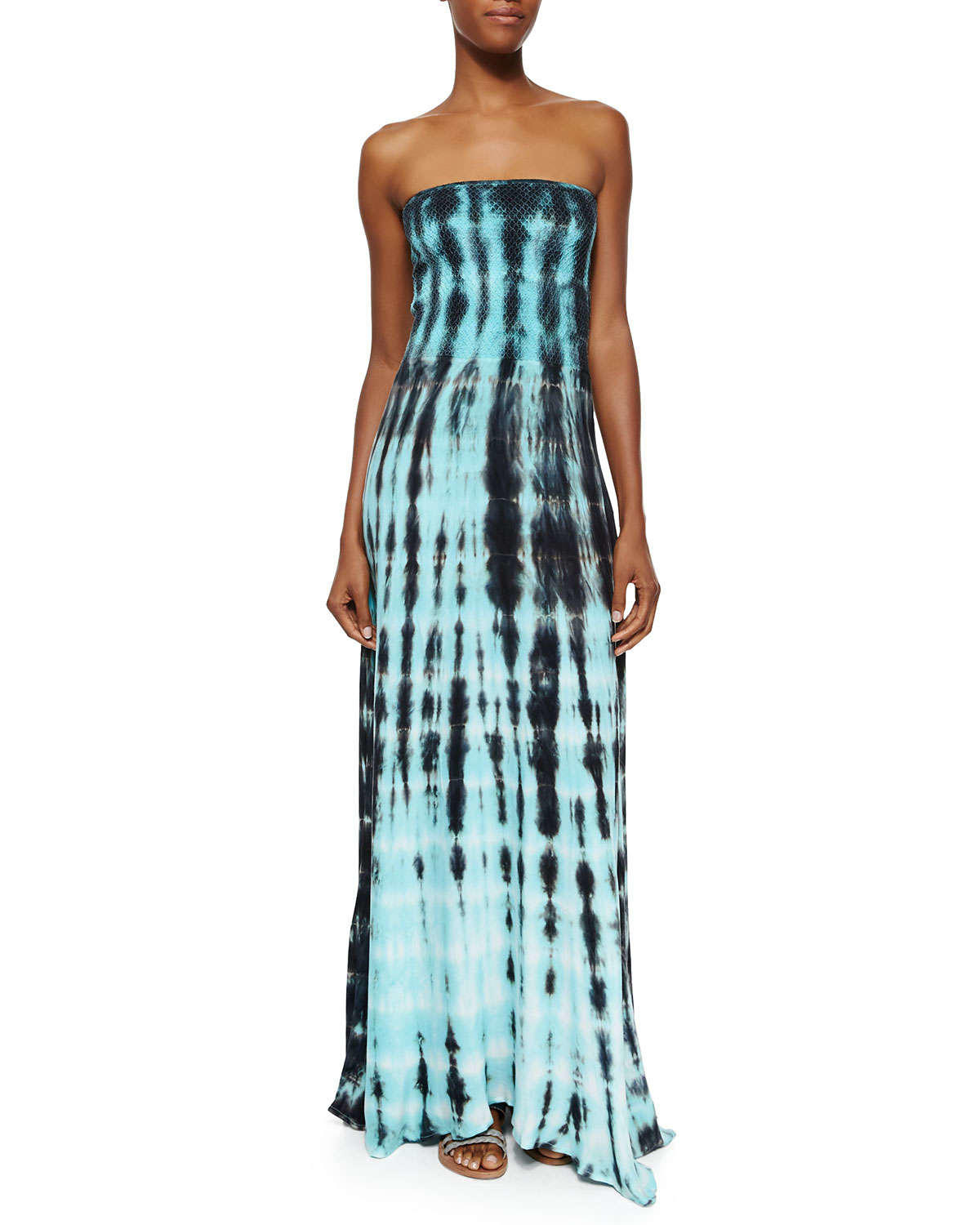 Women's Strapless Tie-Dye Maxi Dress, from Neiman Marcus