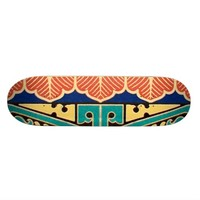 Chinese Japanese Geometric Pattern Design Oriental Custom Skateboard