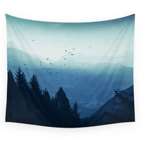 Society6 Blue Valmalenco - Alps At Sunrise Wall Tapestry