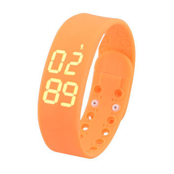 W2 USB Multifunctional 3D Pedometer Intelligent Bracelet -Yellow