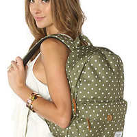 Herschel Supply Backpack Sydney Mid Volume in Olive Polka Dot