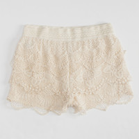 FULL TILT Crochet Tier Girls Shorts | Shorts