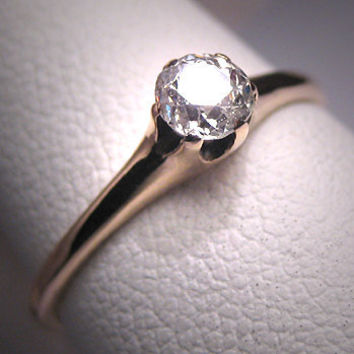 Antique Diamond Ring Mine Cut Wedding Ring by AawsombleiJewelry