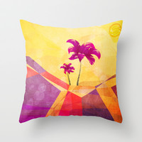 The dream island Throw Pillow by SensualPatterns