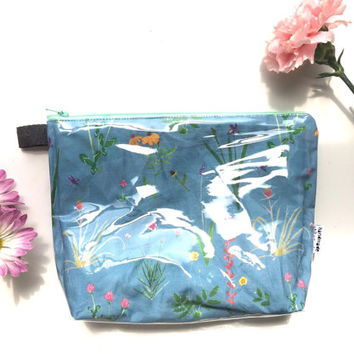 Botanical Divided Flat Bottom Pouch Medium (handmade philosophy's pattern)