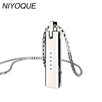 NIYOQUE Moonlight Treasure Box Pendant For Fitbit Flex 2 Metal Pendant Stainless Steel Necklace