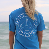 Southerns Finest Sailboat Pocket T-Shirt