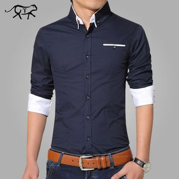 Mens Casual Long Sleeve Stylish Button Up Shirt