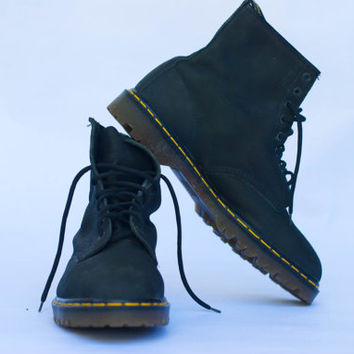 Vintage Dr. Martens 1460 8 Eye Boot Rugged Milled Made in England Men UK Size 12, US 13, Europe 47