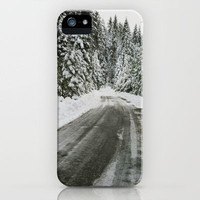 Snowy iPhone Case by Amber Rose | Society6