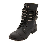 BELTED CUFF COMBAT BOOTS